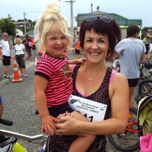 Adele Dawkins completing a half marathon